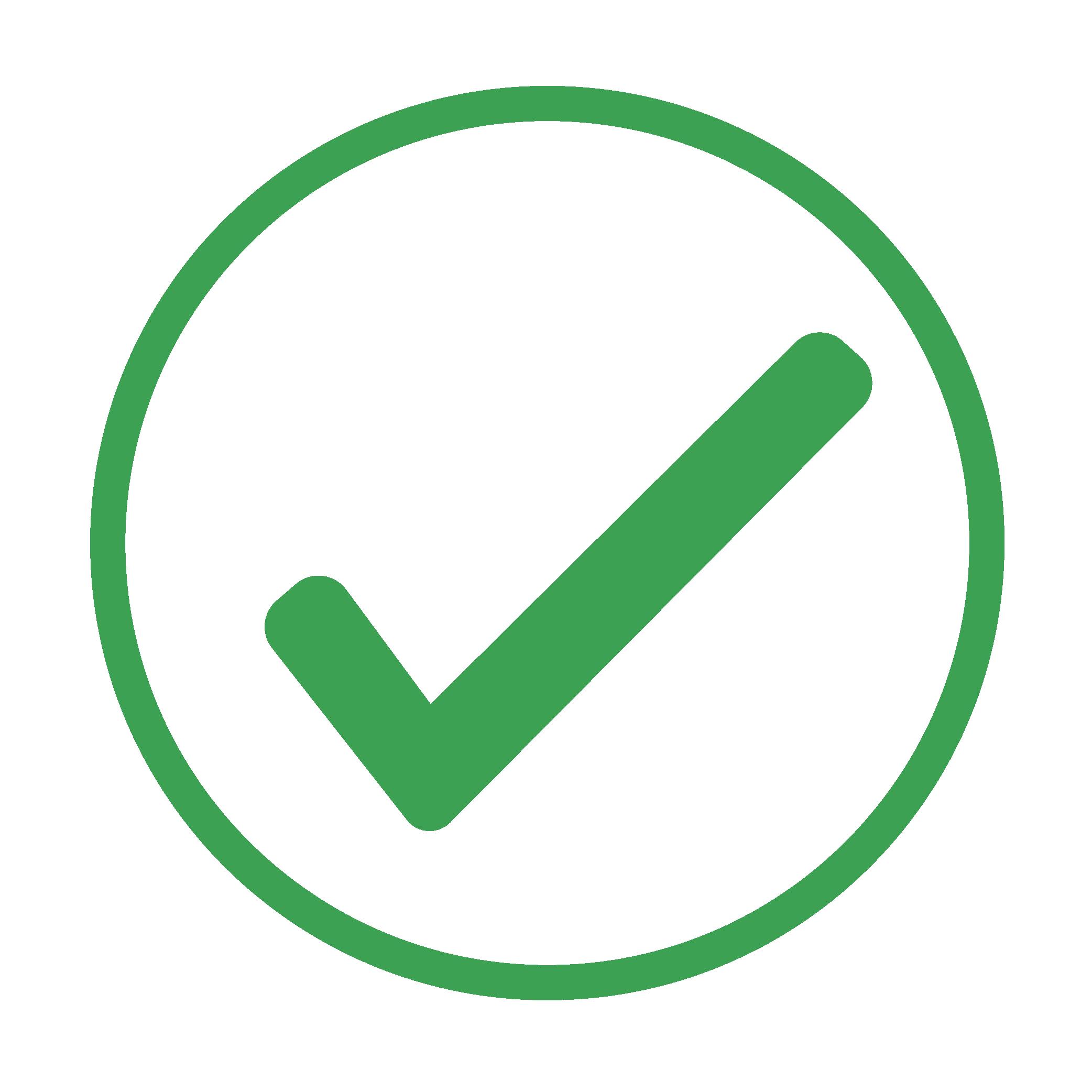 green icon of a checkmark